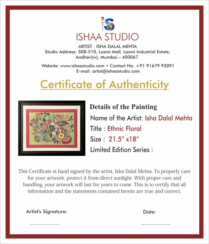 Abstract Art Painting with Certificate