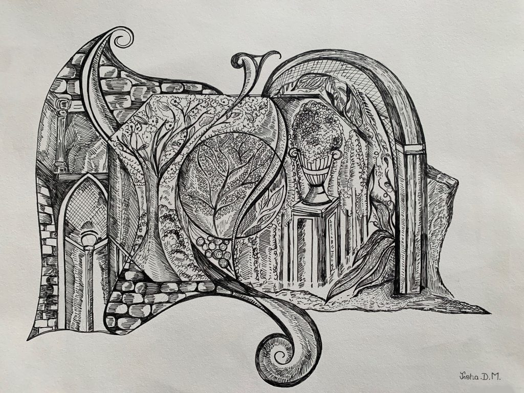 modern art drawing